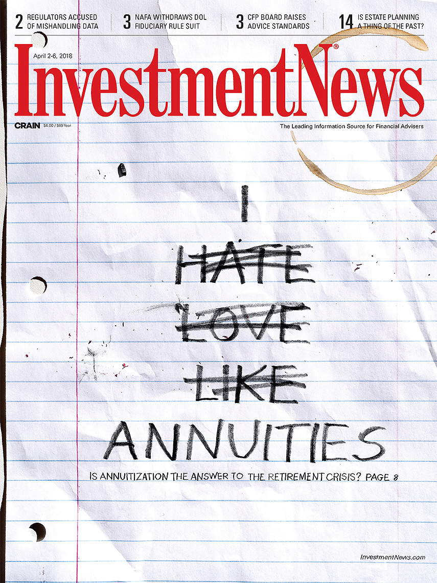 Annuities are love and hate photo-illustration by John Kuczala