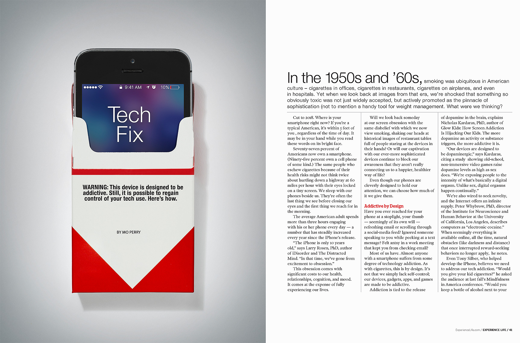 Addictive smart phone photo-illustration by John Kuczala