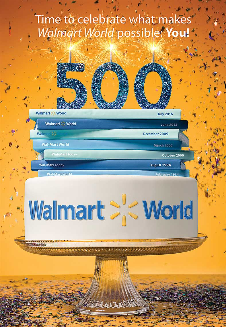 Walmart World anniversary photo-illustration by John Kuczala