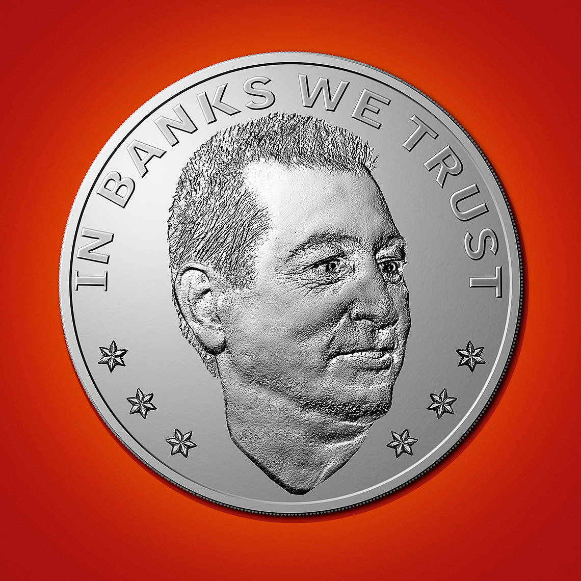 Joseph Otting Comptroller coin illustration by John Kuczala