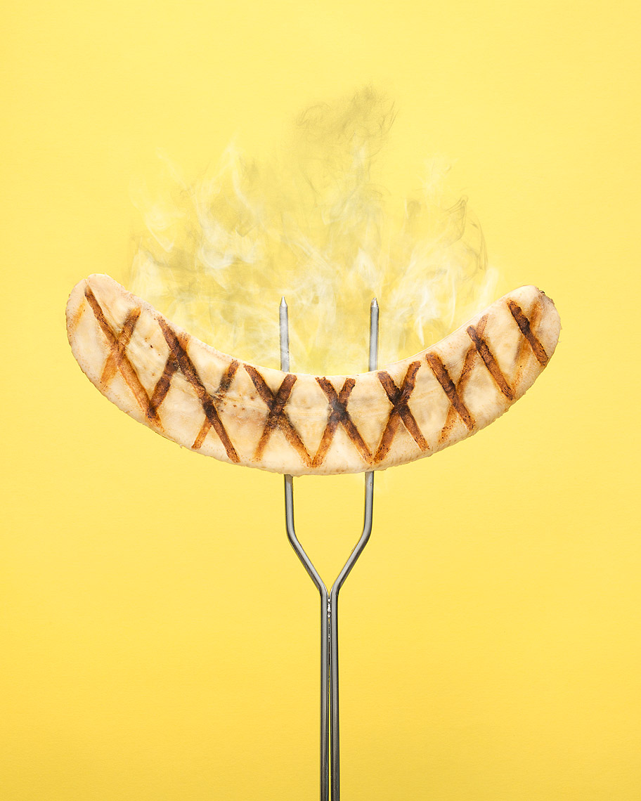 Grilled banana  food photography by John Kuczala