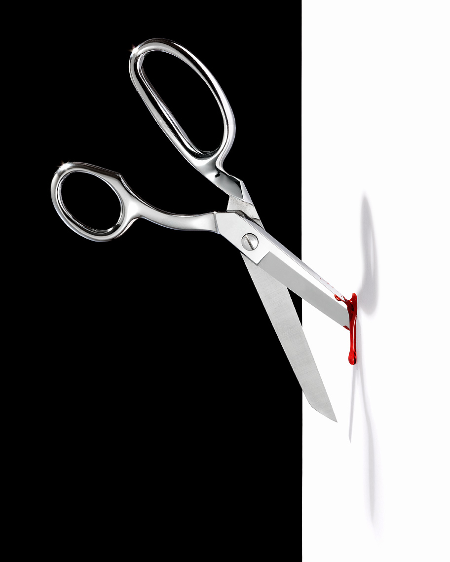 Scary office scissors by John Kuczala