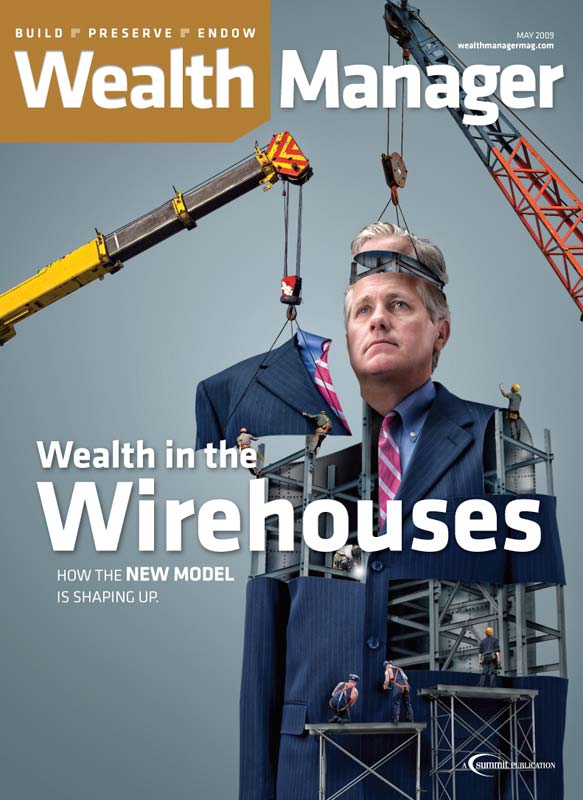 Constructing wealth manager photo-illustration by John Kuczala