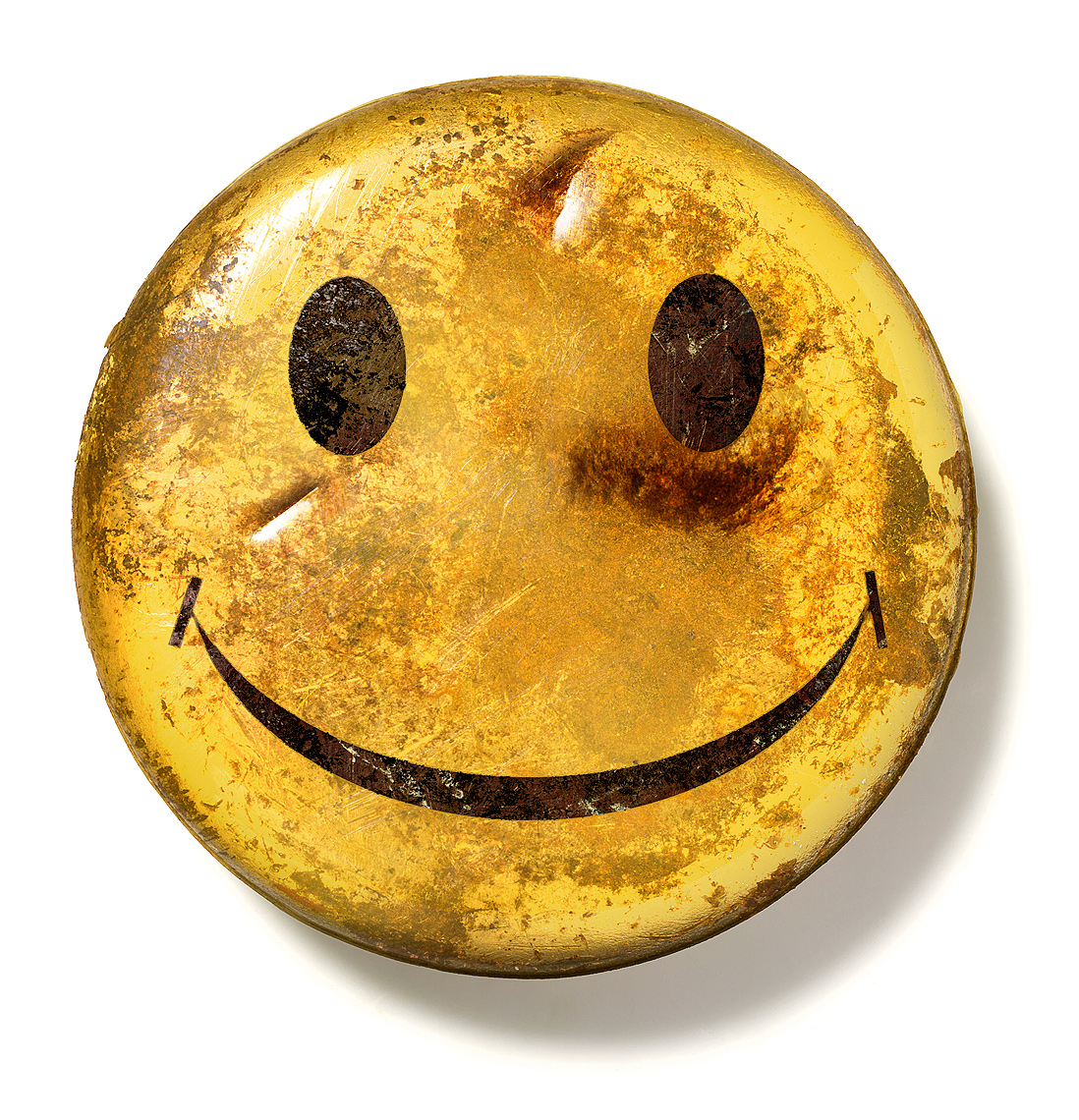 Bruised smiley face photo-Illustration 2  by John Kuczala