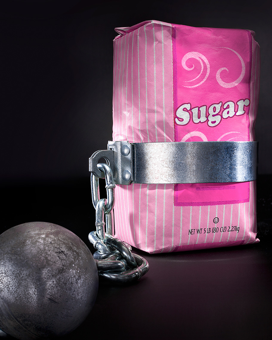 Sugar problems, weight, conceptual photo by John Kuczala