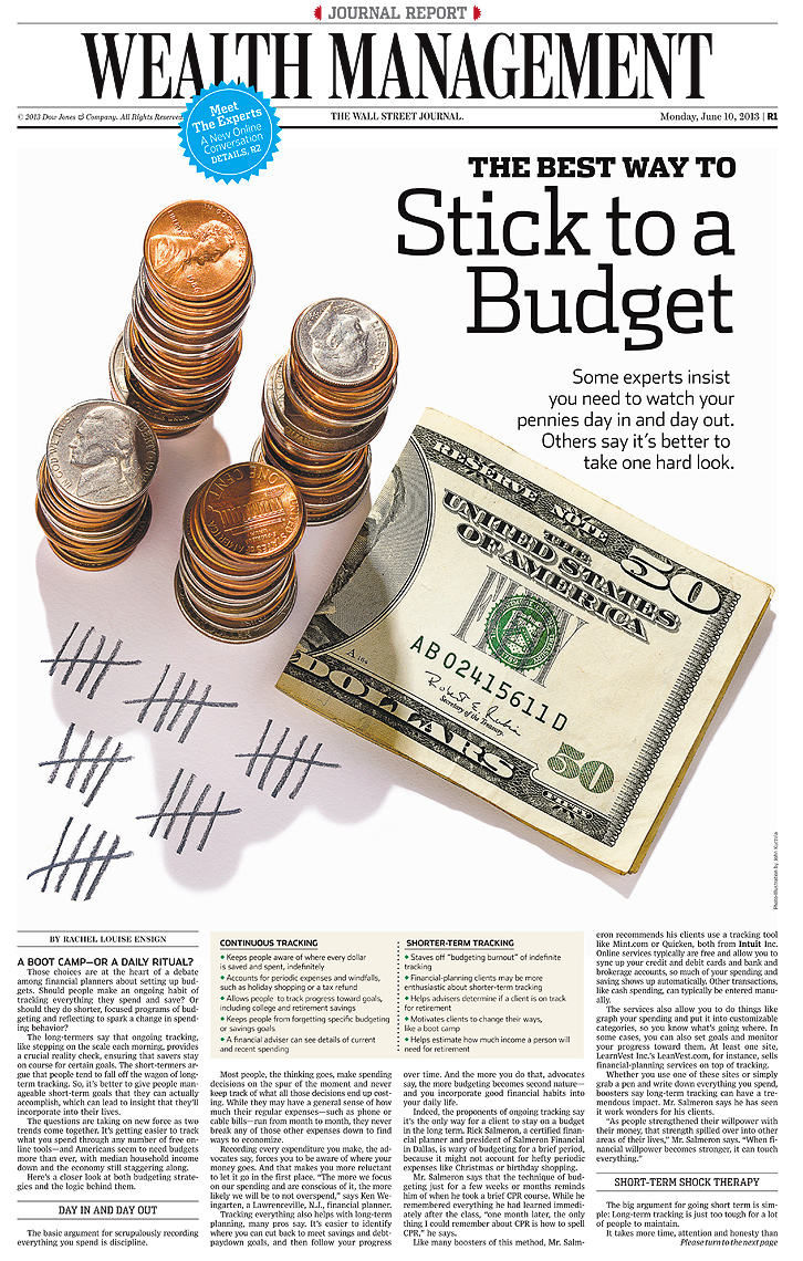Stick to a budget conceptual photo by John Kuczala
